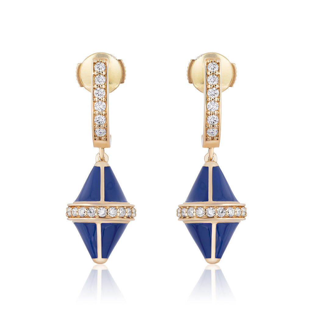 Tresor Iconec Earring Set with Diamonds (Blue)