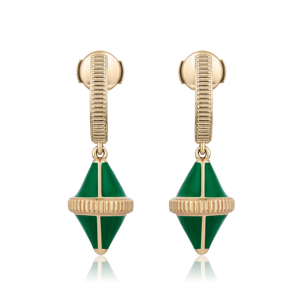 Tresor Iconec Earring Set (Green)