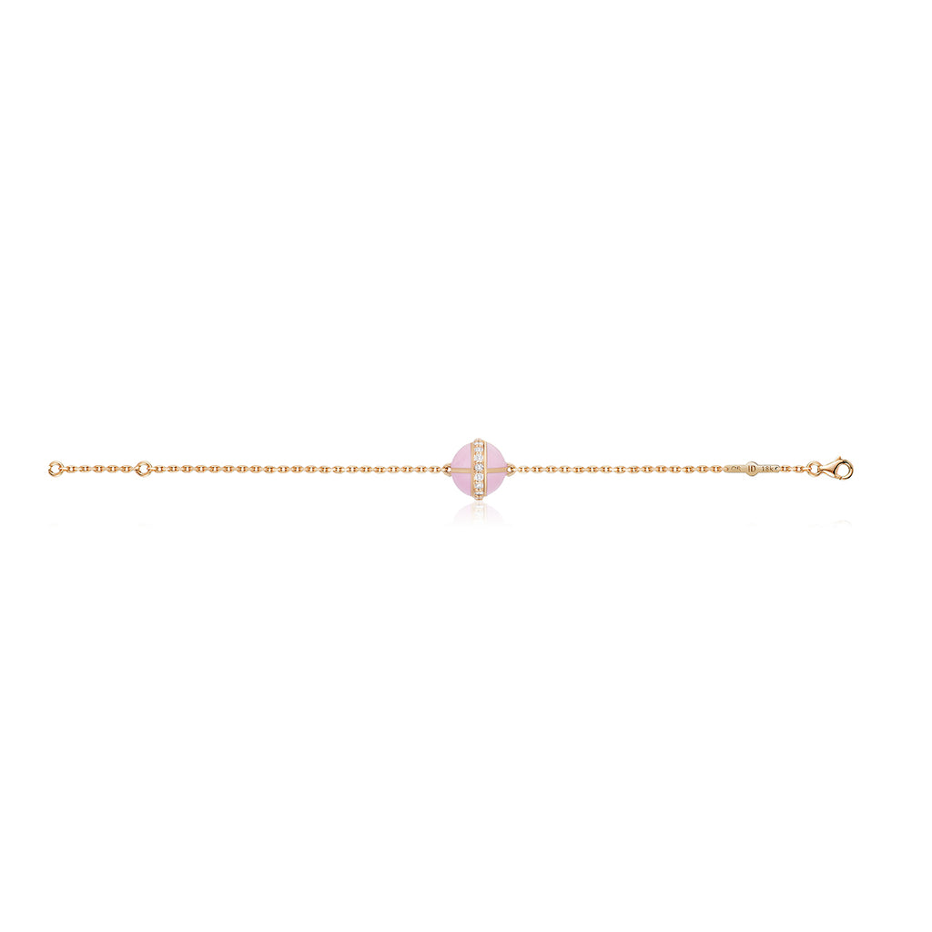 Rising Canopus Bracelet with Diamonds (Pink)