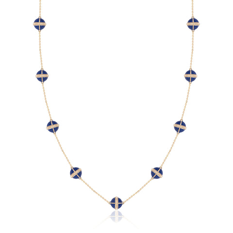 Rising Canopus Necklace, 9 Motifs (Blue)