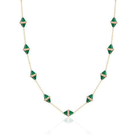 Tresor Iconec Necklace - Green Enamel