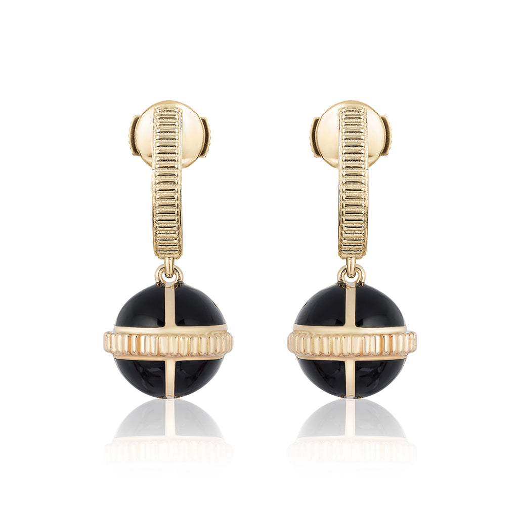 Rising Canopus Drop Earrings (Black)