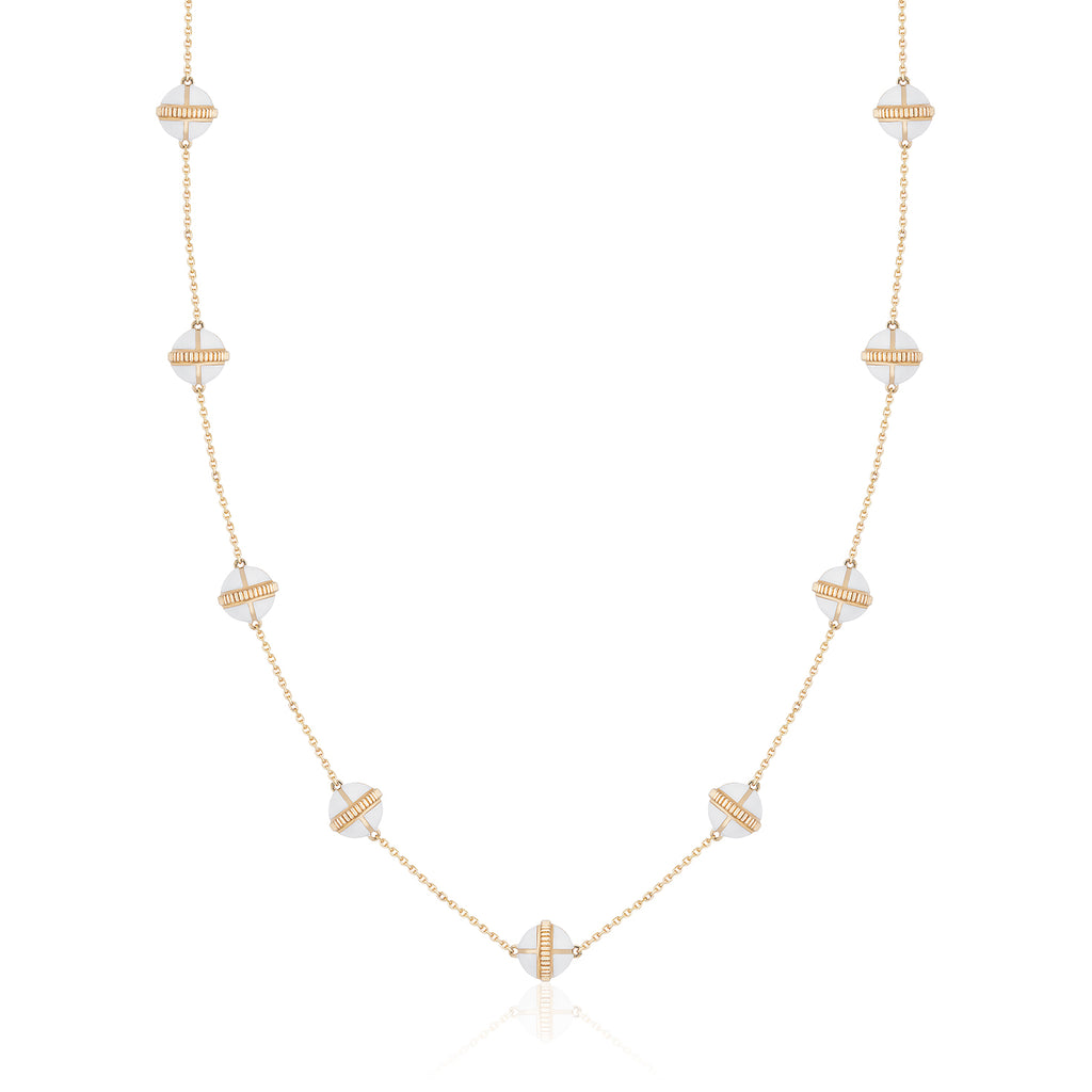 Rising Canopus Necklace, 9 Motifs (White)