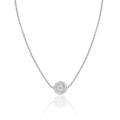 Winder of Love Mini Pendant with Diamonds