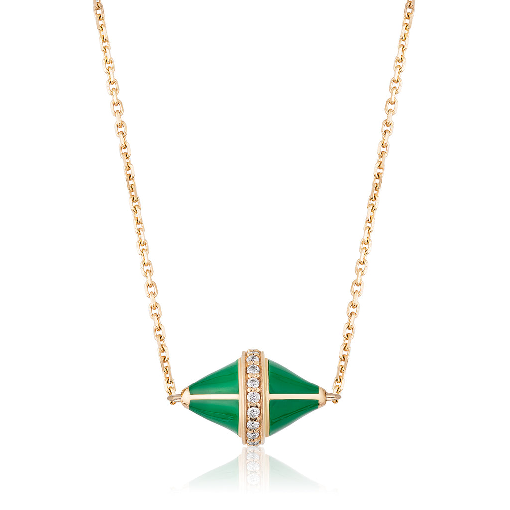 Tresor Iconec Pendant with Diamonds (Green)