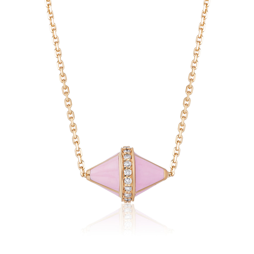 Tresor Iconec Pendant with Diamonds (Pink)