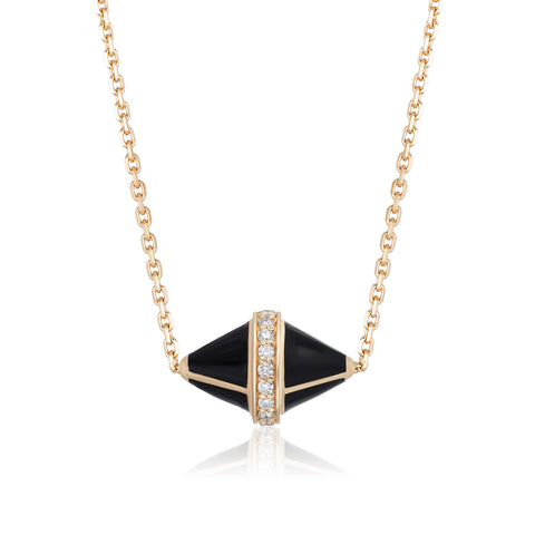 Tresor Iconec Pendant with Diamonds (Black)