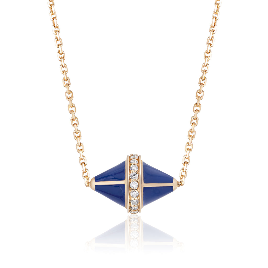 Tresor Iconec Pendant with Diamonds (Blue)