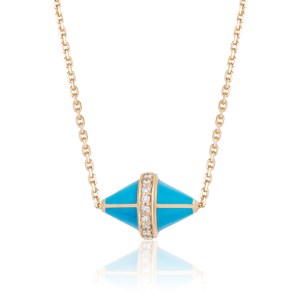 Tresor Iconec Pendant with Diamonds (Turquoise)