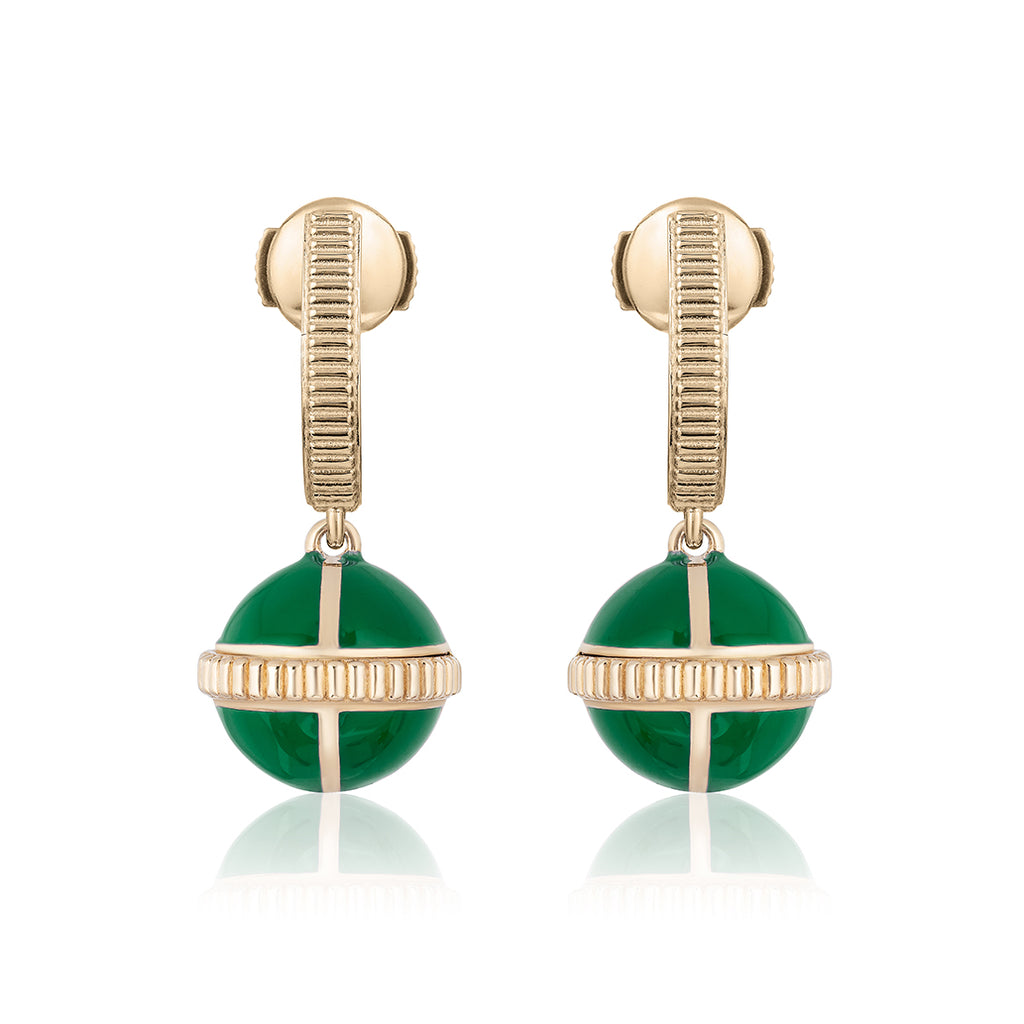 Rising Canopus Drop Earrings (Green)