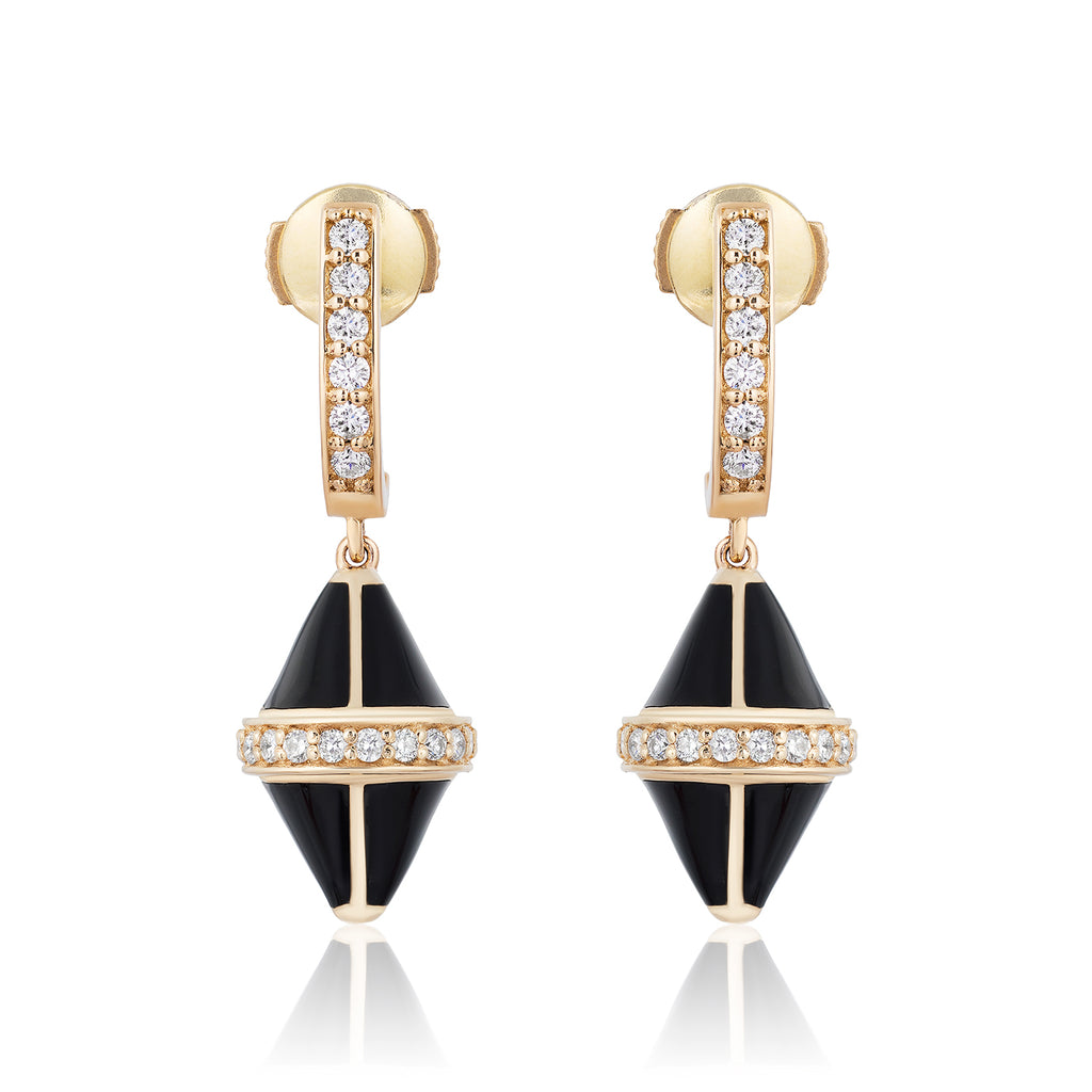 Tresor Iconec Earring Set with Diamonds (Onyx)