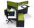 3 Pack Workstation Cubicles