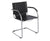 Safco Flaunt Guest Chair- Leather Black, Red, or White