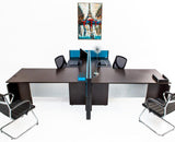 L Shaped Desks with File Pedestals and Divider Panels