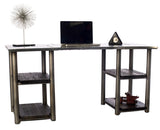 Aviator Double Shelf Writing Desk - New Life Office