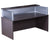 Boss Driftwood Reception Desk with Plexiglass
