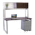 Options Straight Desk with Overhead Storage