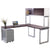 Options L shaped Desk with file and Overhead Storage
