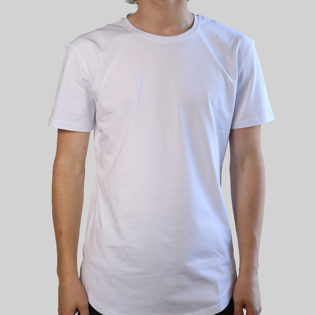 SCOOPED TEE (WHITE)