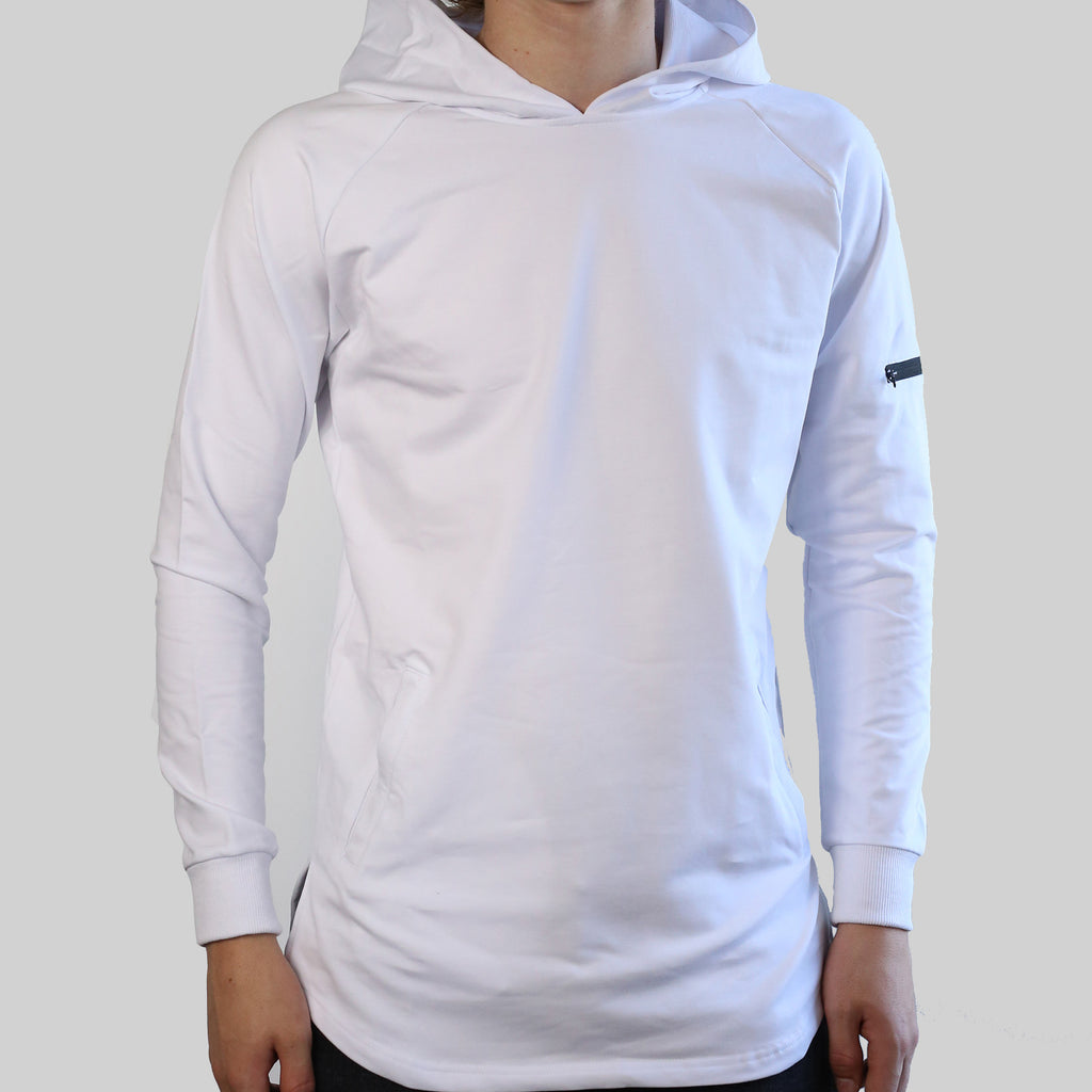 SCOOPED HOODIE (WHITE)