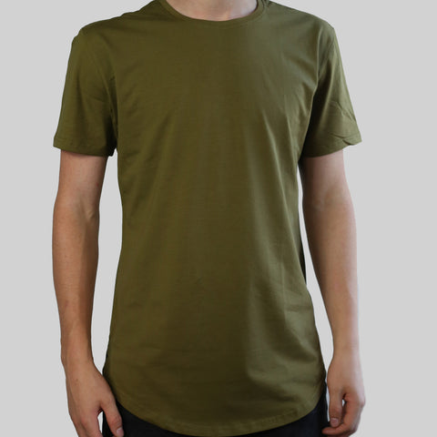 SCOOPED TEE (OLIVE)