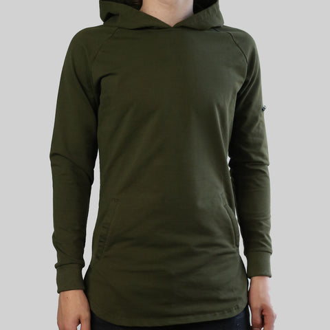 SCOOPED HOODIE (OLIVE)