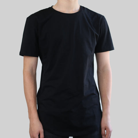 SCOOPED TEE (BLACK)