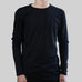 SCOOPED LONG SLEEVE (BLACK)