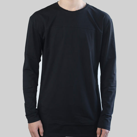 LONG SLEEVE DROP TEE (BLACK)