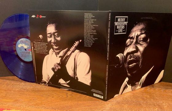 Muddy Waters-Muddy Mississippi Waters Live-180 Gram Translucent Blue & Black Swirl Vinyl