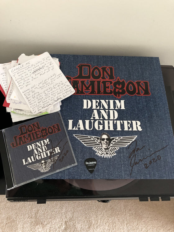 Don Jamieson - Denim & Laughter Personalized Vinyl & CD and One Note)