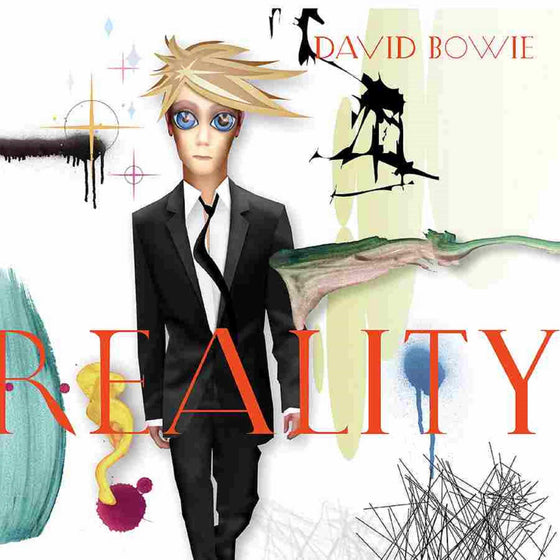 David Bowie - Reality - White & Blue Swirl Vinyl