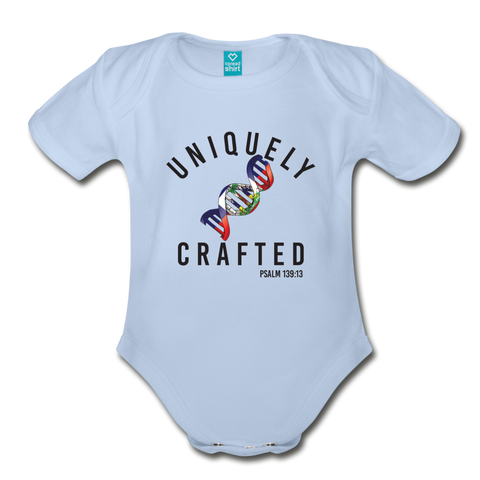 Uniquely Crafted Organic Short Sleeve Baby Bodysuit - HAITI - Everything Psalms