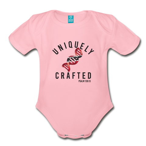 Uniquely Crafted Organic Short Sleeve Baby Bodysuit - TRINIDAD - Everything Psalms