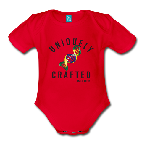 Uniquely Crafted Organic Short Sleeve Baby Bodysuit - BRAZIL - Everything Psalms