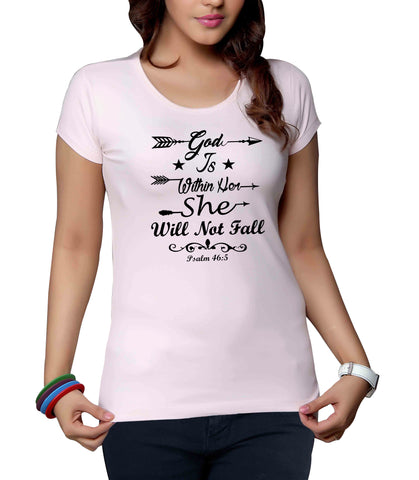 God Is Within Her She Will Not Fall Women's T-Shirt - Everything Psalms