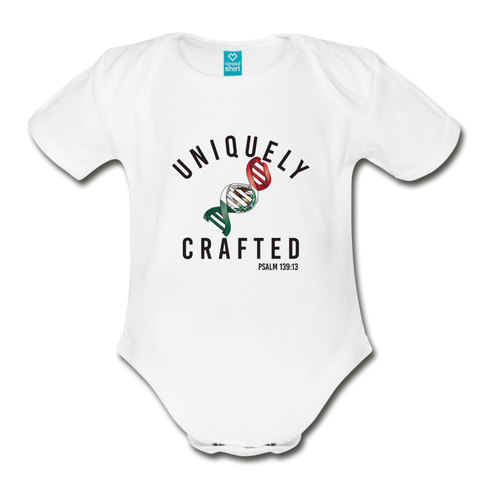 Uniquely Crafted Organic Short Sleeve Baby Bodysuit - MEXICO - Everything Psalms