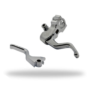 Easier Pull Clutch + Brake Lever Combo | Chrome - Dyna/Softail - 1FNGR