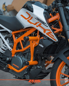 Zeus Armor Crash Cage | 2017-2020 KTM Duke 390 - 1FNGR, LLC