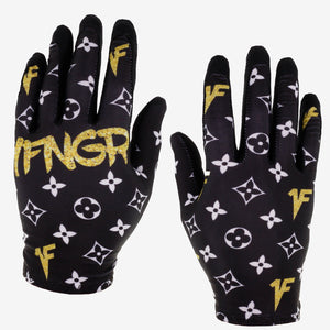 Black x Gold Louis Gloves - MX | MTB | Street - 1FNGR