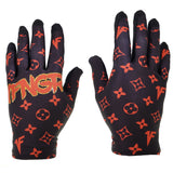 Black x Red Louis Gloves - MX | MTB | Street - 1FNGR, LLC