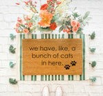 Bunch of Cats Doormat