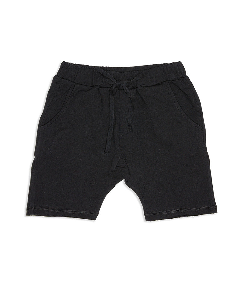 The Bones Collection Black Relaxed Shorts