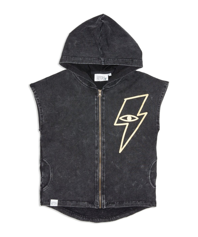 Lightning Strike Sleeveless Hood
