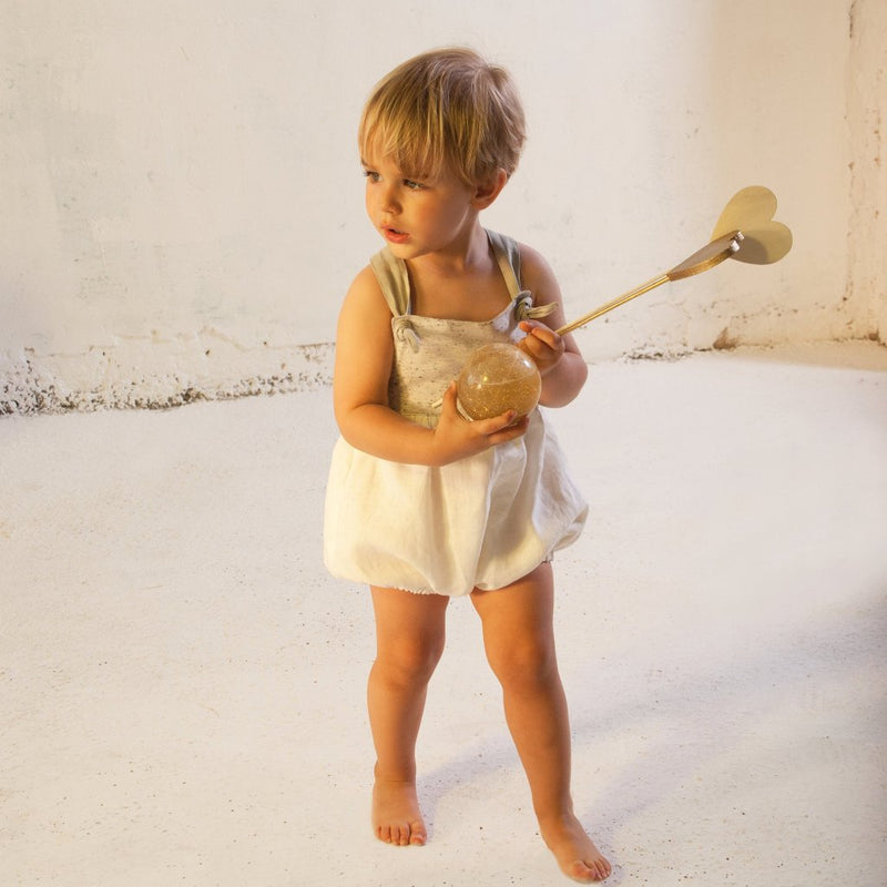 Reversible White Romper Suit
