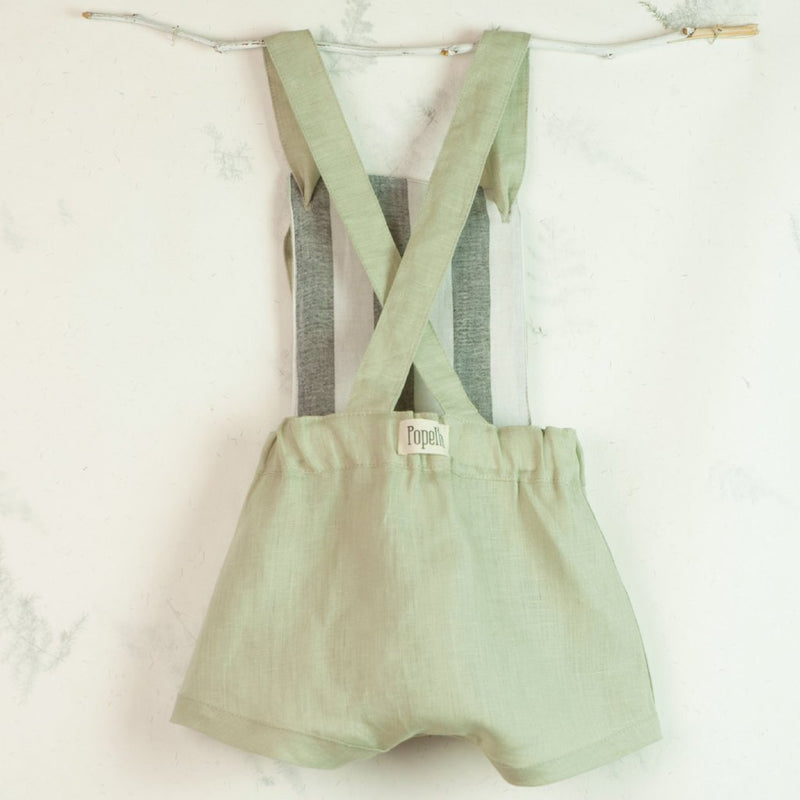 Green Reversible Dungarees