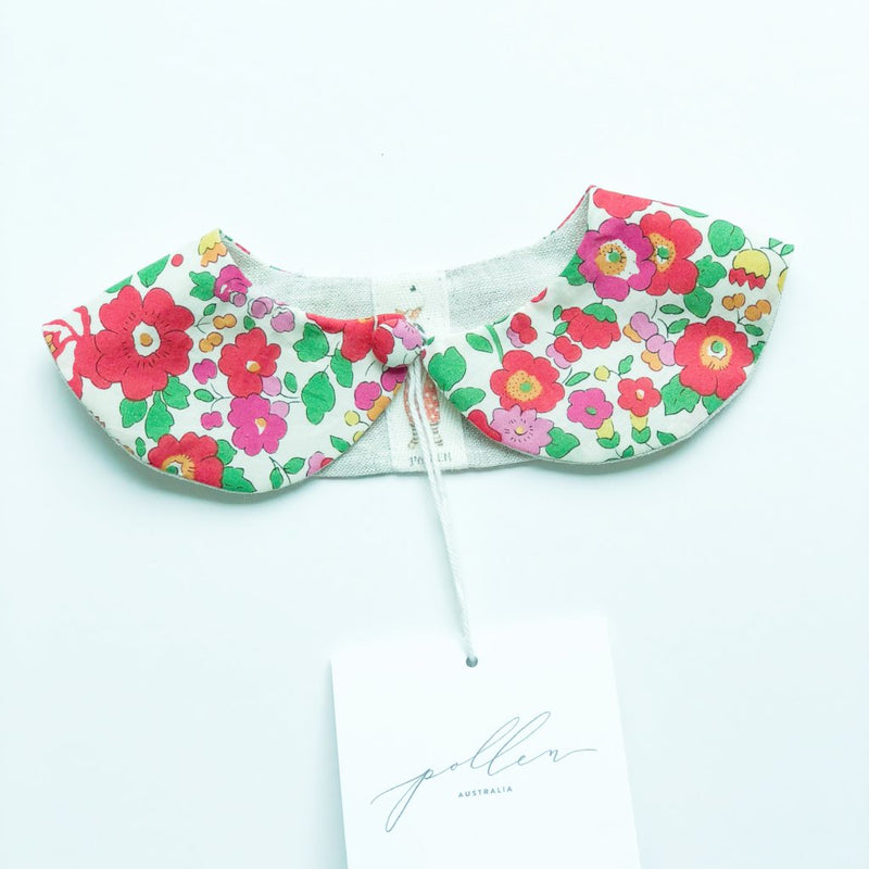 Liberty Print Peter Pan Collar (Betsy S Red)