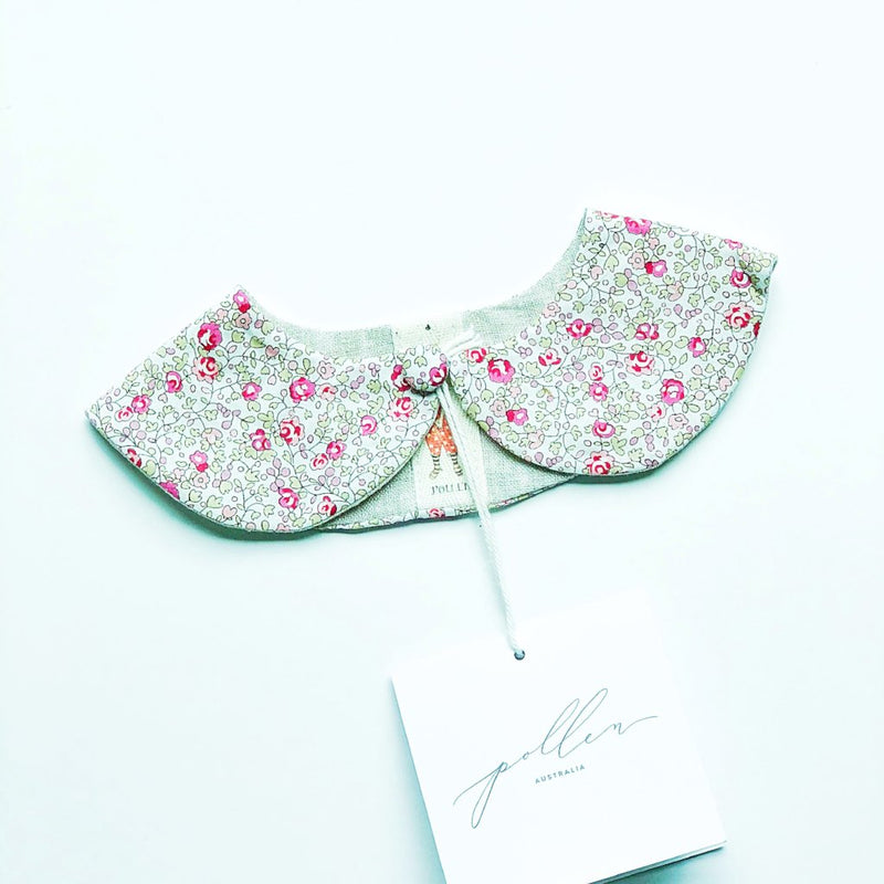 Liberty Print Peter Pan Collar (Eloise E Pink)