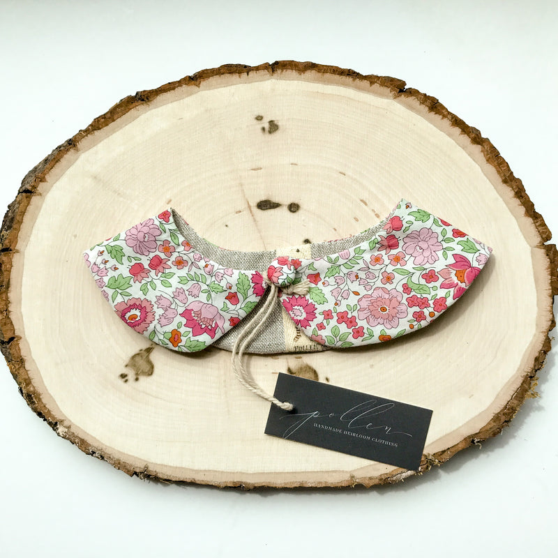 Liberty Print Peter Pan Collar (Tatum Pink)