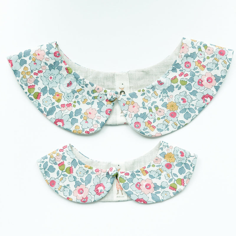Liberty Print Peter Pan Collar (Betsy P Grey)